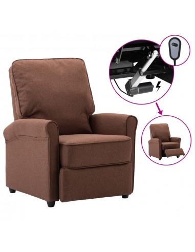 Elektrinis atlošiamas televizoriaus krėslas, rudas, audinys   Foteliai, reglaineriai ir išlankstomi krėslai   duodu.lt