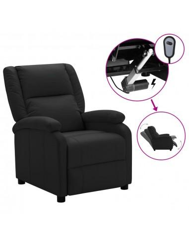 Elektrinis televizoriaus krėslas, juodos spalvos, dirbtinė oda | Foteliai, reglaineriai ir išlankstomi krėslai | duodu.lt