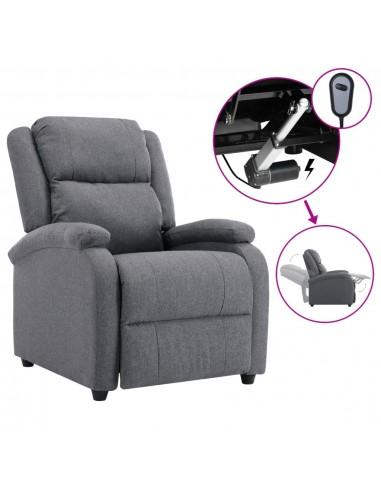 Elektrinis atlošiamas TV krėslas, tamsiai pilkas, audinys | Foteliai, reglaineriai ir išlankstomi krėslai | duodu.lt