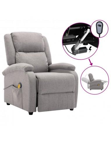 Elektrinis atlošiamas masažinis krėslas, pilkas, audinys   Elektrinės Masažo Kėdės   duodu.lt