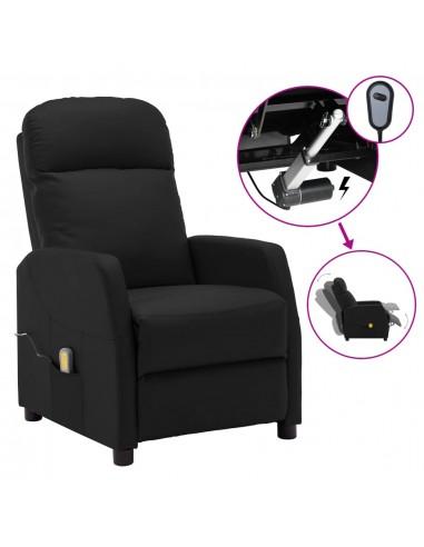 Elektrinis masažinis atlošiamas krėslas, juodas, dirbtinė oda   Elektrinės Masažo Kėdės   duodu.lt