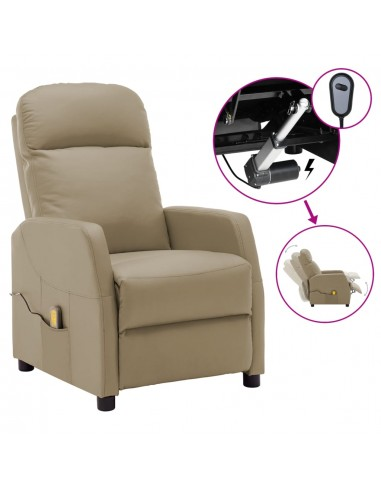 Elektrinis atlošiamas masažinis krėslas, kapučino, dirbtinė oda | Elektrinės Masažo Kėdės | duodu.lt
