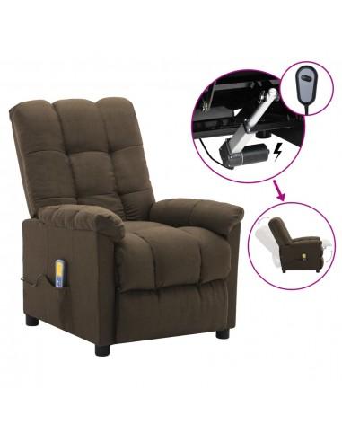 Elektrinis masažinis krėslas, rudos spalvos, audinys  | Elektrinės Masažo Kėdės | duodu.lt