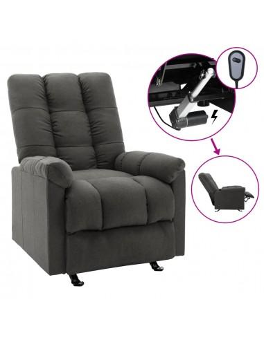 Elektrinis atlošiamas krėslas, tamsiai pilkos spalvos, audinys    Foteliai, reglaineriai ir išlankstomi krėslai   duodu.lt