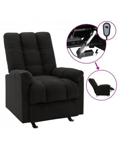 Elektrinis atlošiamas krėslas, juodos spalvos, audinys    Foteliai, reglaineriai ir išlankstomi krėslai   duodu.lt