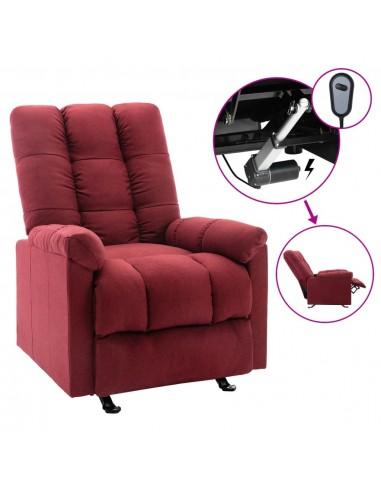 Elektrinis atlošiamas krėslas, raudonojo vyno spalvos, audinys  | Foteliai, reglaineriai ir išlankstomi krėslai | duodu.lt