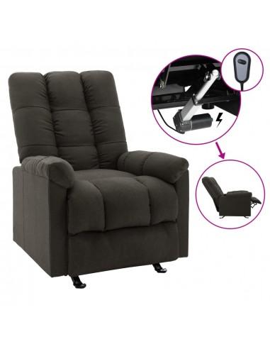 Elektrinis atlošiamas krėslas, taupe spalvos, audinys    Foteliai, reglaineriai ir išlankstomi krėslai   duodu.lt