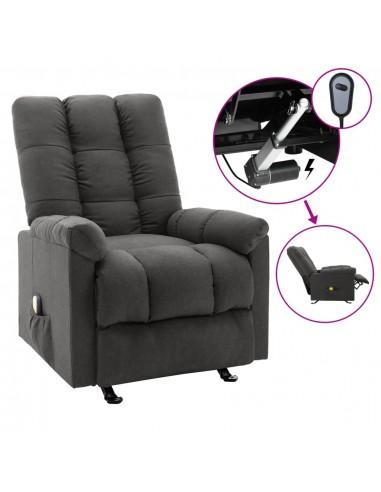 Elektrinis masažinis krėslas, tamsiai pilkos spalvos, audinys   Elektrinės Masažo Kėdės   duodu.lt