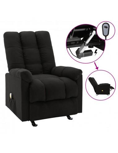 Elektrinis masažinis krėslas, juodos spalvos, audinys  | Elektrinės Masažo Kėdės | duodu.lt