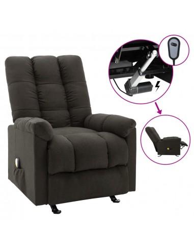 Elektrinis masažinis atlošiamas krėslas, taupe spalvos, audinys    Elektrinės Masažo Kėdės   duodu.lt