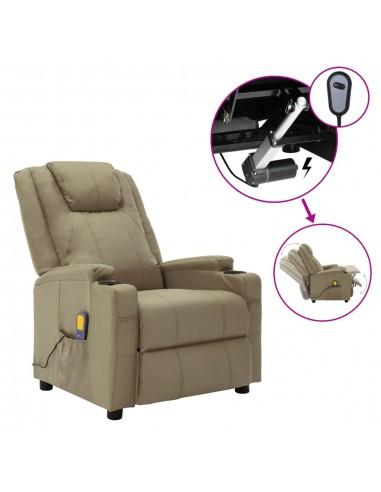 Elektrinis atlošiamas masažo krėslas, kapučino, dirbtinė oda  | Elektrinės Masažo Kėdės | duodu.lt