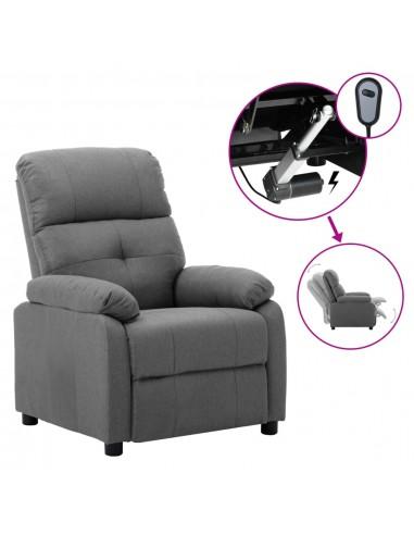 Elektrinė atlošiama kėdė, šviesiai pilkos spalvos, audinys   Foteliai, reglaineriai ir išlankstomi krėslai   duodu.lt