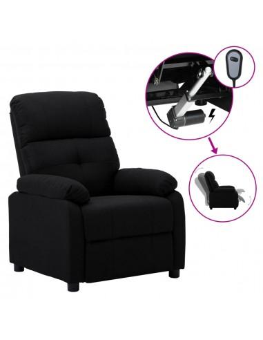 Elektrinė atlošiama kėdė, juodos spalvos, audinys  | Foteliai, reglaineriai ir išlankstomi krėslai | duodu.lt