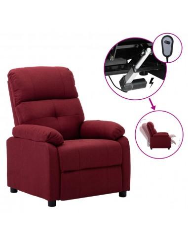 Elektrinė atlošiama kėdė, vyno raudonos spalvos, audinys  | Foteliai, reglaineriai ir išlankstomi krėslai | duodu.lt