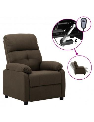 Elektrinė atlošiama kėdė, rudos spalvos, audinys  | Foteliai, reglaineriai ir išlankstomi krėslai | duodu.lt