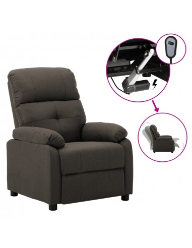 Elektrinė atlošiama kėdė, taupe spalvos, audinys  | Foteliai, reglaineriai ir išlankstomi krėslai | duodu.lt