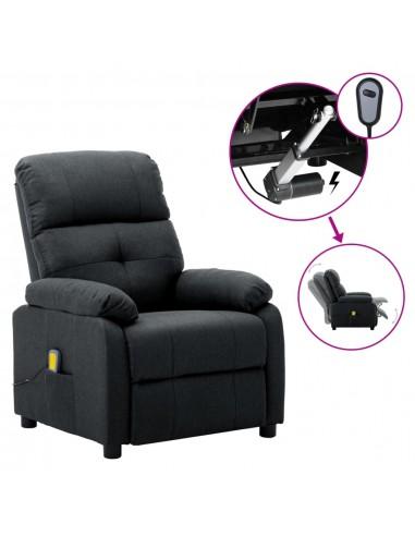 Elektrinė masažinė atlošiama kėdė, tamsiai pilka, audinys  | Elektrinės Masažo Kėdės | duodu.lt