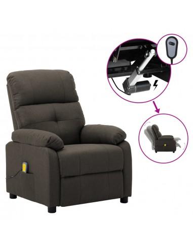 Elektrinė atlošiama masažinė kėdė, taupe, audinys    Elektrinės Masažo Kėdės   duodu.lt