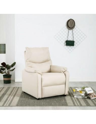 Elektrinis masažinis TV krėslas, kreminės spalvos, audinys    Foteliai, reglaineriai ir išlankstomi krėslai   duodu.lt