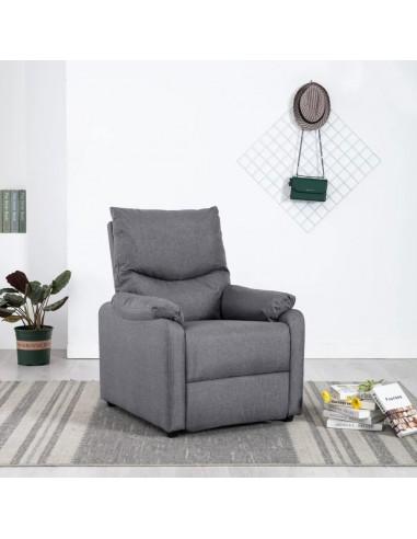 Elektrinis masažinis TV krėslas, šviesiai pilkas, audinys  | Foteliai, reglaineriai ir išlankstomi krėslai | duodu.lt