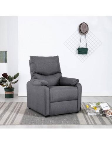 Elektrinis masažinis TV krėslas, tamsiai pilkas, audinys  | Foteliai, reglaineriai ir išlankstomi krėslai | duodu.lt