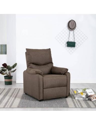 Elektrinis masažinis TV krėslas, rudos spalvos, audinys    Foteliai, reglaineriai ir išlankstomi krėslai   duodu.lt