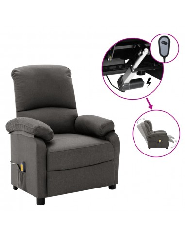 Elektrinis masažinis krėslas, tamsiai pilkos spalvos, audinys   Foteliai, reglaineriai ir išlankstomi krėslai   duodu.lt