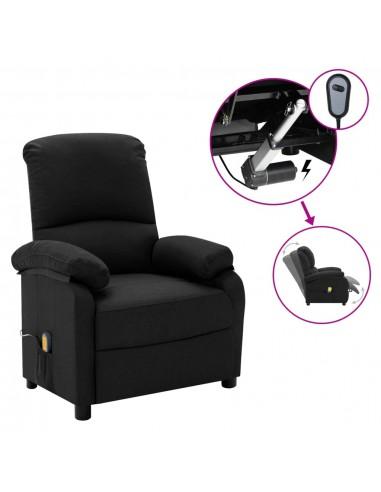 Elektrinis masažinis krėslas, juodos spalvos, audinys  | Foteliai, reglaineriai ir išlankstomi krėslai | duodu.lt
