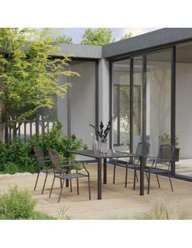 Sodo valgomojo baldų komplektas, 5 dalių, juodos spalvos | Lauko Baldų Komplektai | duodu.lt