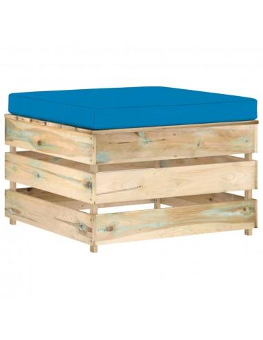 Modulinė sodo otomanė su pagalvėle, žaliai impregnuota mediena    Lauko sudedamosios sofos dalys   duodu.lt
