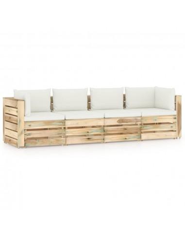 Keturvietė sodo sofa su pagalvėmis, žaliai impregnuota mediena   Lauko Sofos   duodu.lt