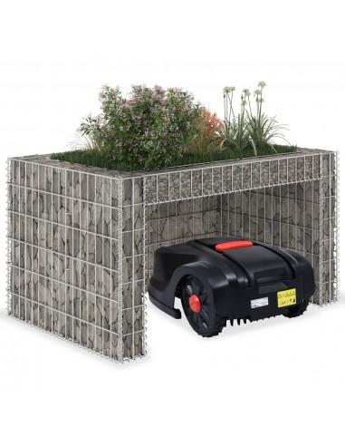 Žoliapjovės garažas su aukštu loveliu, 110x80x60cm, plienas   Vejapjovės uždangalai   duodu.lt