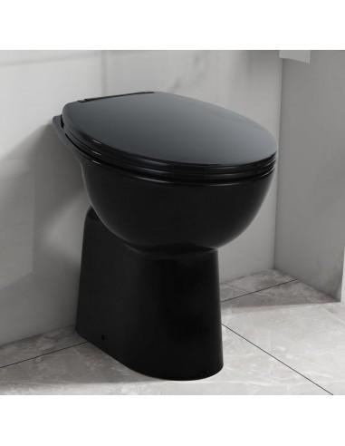 Aukštas berėmis klozetas, juodas, keramika, 7cm   Klozetai   duodu.lt