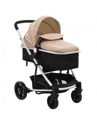 2-in-1 Vaikiškas sulankstomas vežimėlis, aliuminis, raud./juodas | Kūdikių Vėžimėliai | duodu.lt