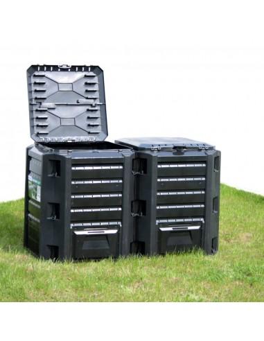 Sodo komposto dėžė, juodos spalvos, 380l  | Komposteriai | duodu.lt