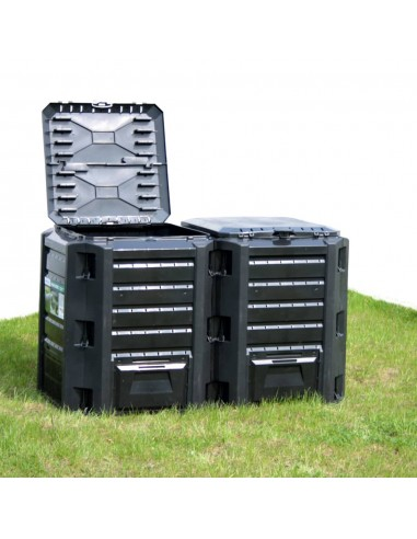 Sodo komposto dėžė, juodos spalvos, 1600l    Komposteriai   duodu.lt