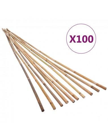 Bambukiniai sodo kuoliukai, 100vnt., 120cm | Atramos ir grotelės augalams | duodu.lt