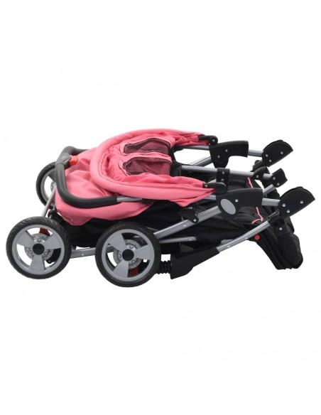 2-in-1 Vaikiškas sulankstomas vežimėlis, aliuminis, mėl./juodas | Kūdikių Vėžimėliai | duodu.lt