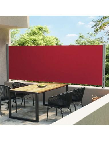 Ištraukiama šoninė kiemo markizė, raudonos spalvos, 600x160cm   Lauko Skėčiai Ir Tentai   duodu.lt