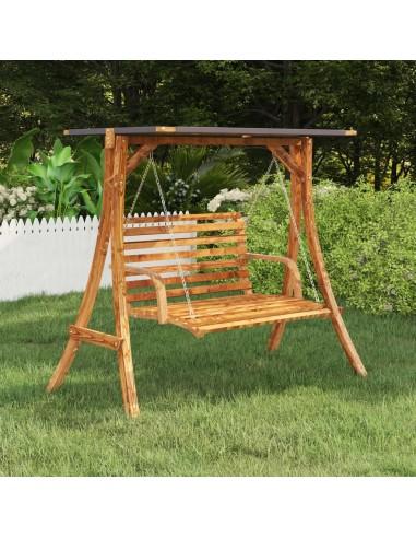 Sūpynių rėmas su antracito spalvos stogeliu, eglės mediena | Terasos sūpynių priedai | duodu.lt