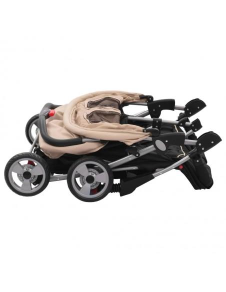 2-in-1 Vaikiškas sulankstomas vežimėlis, aliuminis, pilkas/juodas | Kūdikių Vėžimėliai | duodu.lt