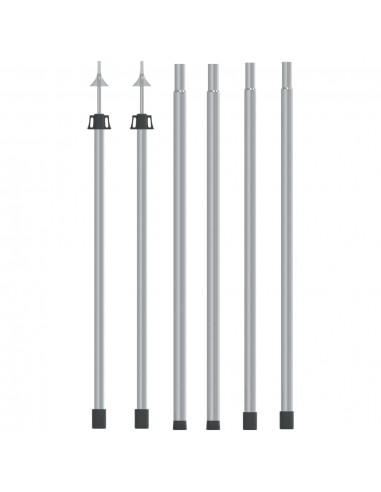 Teleskopiniai brezento strypai, 2vnt., 102-260cm, aliuminis | Palapinių strypai ir kuoliukai | duodu.lt