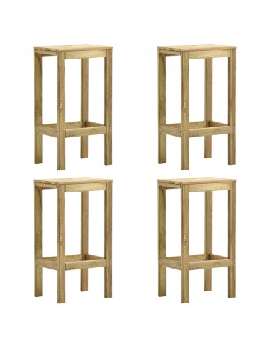 Baro taburetės, 4vnt., impregnuota pušies mediena | Stalai ir Baro Kėdės | duodu.lt