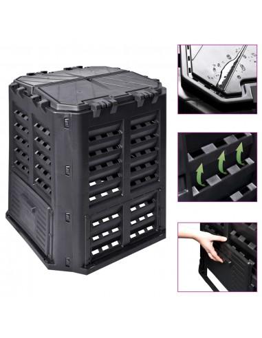 Sodo komposto dėžė, juoda, 68,9x68,9x83,9cm, 360 l | Komposteriai | duodu.lt