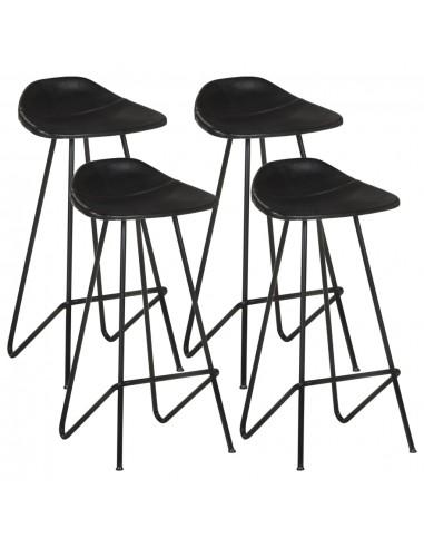 Baro taburetės, 4vnt., juodos spalvos, tikra oda  | Stalai ir Baro Kėdės | duodu.lt