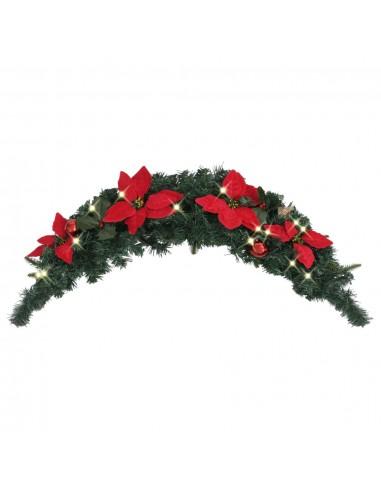 Kalėdinė arka su LED lemputėmis, žalios spalvos, 90cm, PVC | Šventiniai papuošimai | duodu.lt