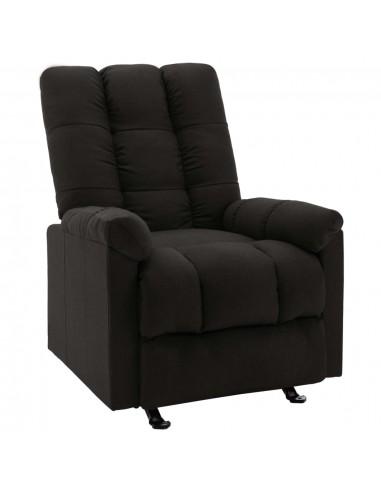 Atlošiamas krėslas, juodos spalvos, audinys  | Foteliai, reglaineriai ir išlankstomi krėslai | duodu.lt