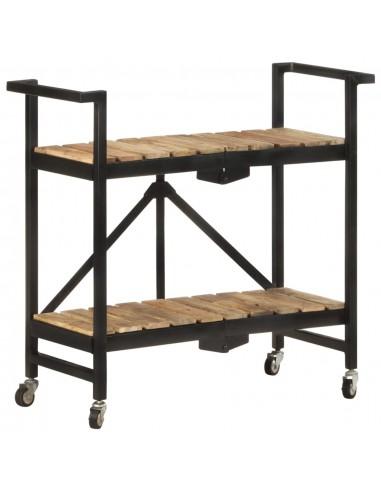 Virtuvės vežimėlis, 87x36x81cm, mango medienos masyvas | Virtuvės ir Valgomojo Staliukai ant Ratukų | duodu.lt