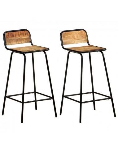 Baro kėdės, 2vnt., mango medienos masyvas  | Stalai ir Baro Kėdės | duodu.lt