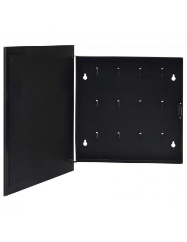 Magnetinė raktų dėžutė, juodos spalvos, 35x35x5,5cm   Dirbtuvių kabliai   duodu.lt